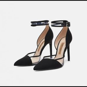Zara High  Heel Ankle pumps sz 10